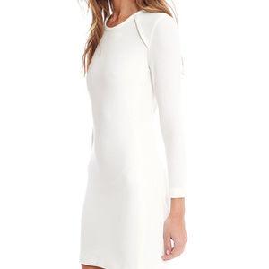 Iro Cheryne white 8 M 40 jersey mini dress IVQ073